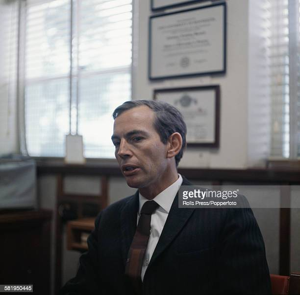 South African cardiac surgeon Christiaan Barnard pictured in May 1968 after becoming the first surgeon to perform a successful human heart transplant...