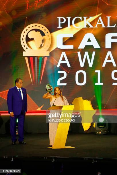 South African coach Diseree Ellis coach of the South African women's national team receives the award Womens Coach of the Year during the 2019 CAF...
