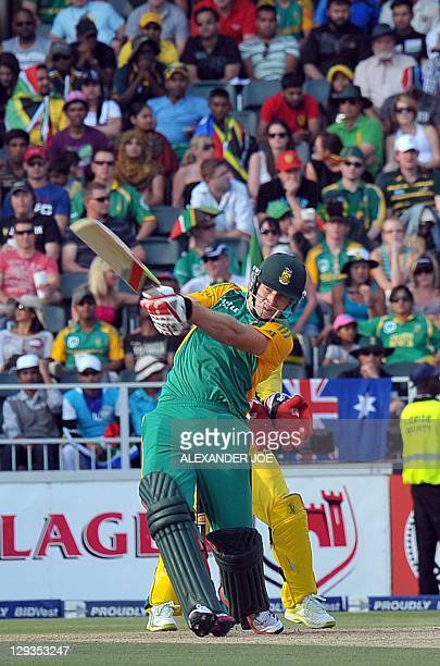 South African Colin Ingram plays a shot during the 2nd Twenty20 cricket match between South Africa and Australia in Johannesburg at Wanderers Cricket...