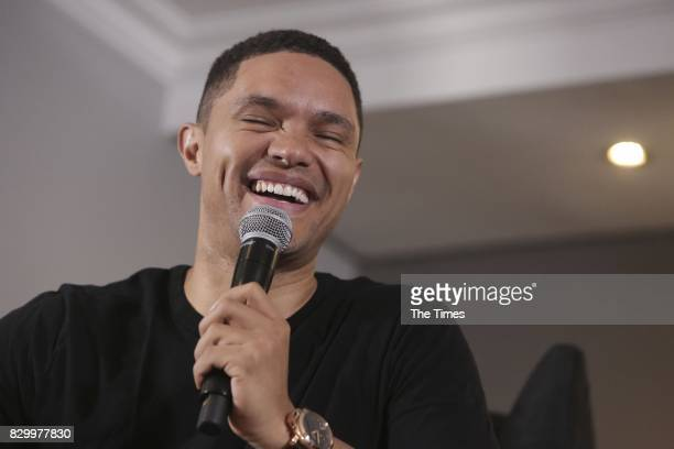 South African comedian Trevor Noah during a press conference at Monte Casino ahead of his show Theres a Gupta on My Stoep on August 10 2017 in...