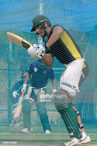 South African cricketer Aiden Markram during a practice session ahead of the 1st One Day International cricket match against Sri Lanka at Rangiri...