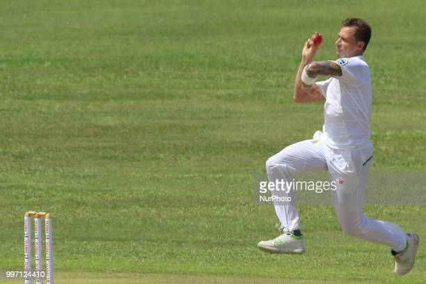 South African cricketer Dale Steyn bowls during the 1st Day's play of the 1st Test match between Sri Lanka and South Africa at Galle International...