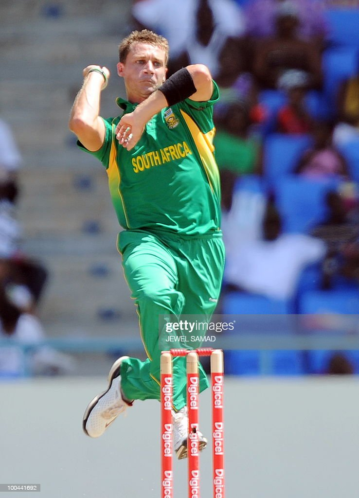 South African cricketer Dale Steyn deliv
