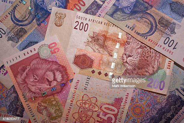 south african currency. - south african currency stock photos and pictures
