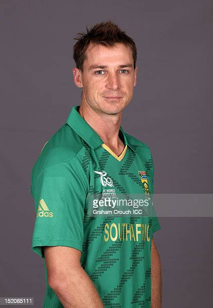 South African Dale Steyn poses at a portrait session ahead of the ICC T20 World Cup on September 16 2012 in Colombo Sri Lanka