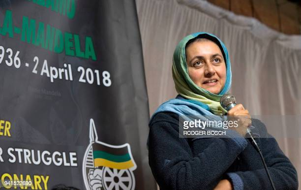 South African Deputy Minister of Home Affairs Fatima Chohan takes part with others in a candlelight vigil for the late South African antiapartheid...