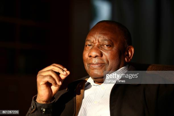 South African Deputy President Cyril Ramaphosa poses for a portrait during an interview in Hyde Park on June 23 2017 in Johannesburg South Africa...