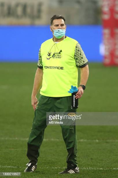 South African Director of Rugby Rassie Erasmus during the 3rd Test between South Africa and the British & Irish Lions at FNB Stadium on August 7,...