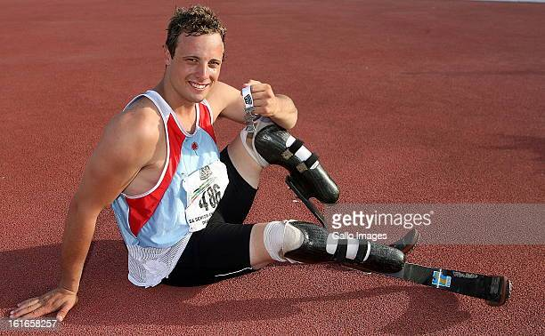 South African double amputee world record breaking disabled athlete Oscar Pistorius on March 17 in South Africa