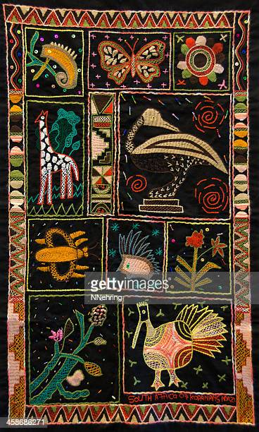 south african embroidery - embroidery stock pictures, royalty-free photos & images