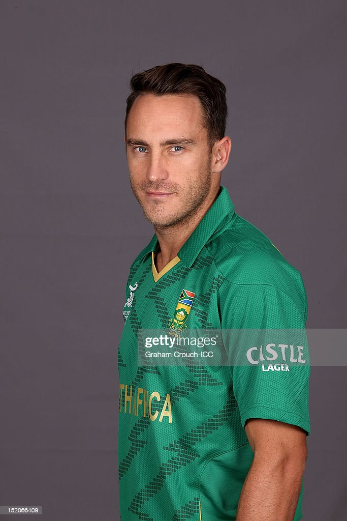 South African Faf du Plessis poses at a portrait session ahead of the ICC T20 World Cup on September 16, 2012 in Colombo, Sri Lanka.