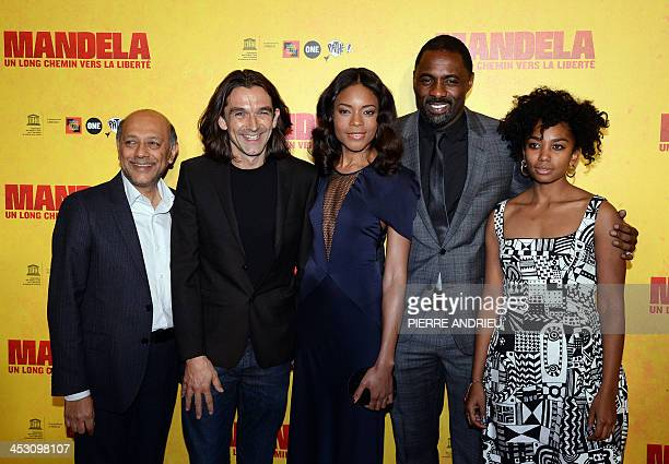 South African film producer Anant Singh English director Justin Chadwick English actress Naomie Harris who plays Mandela's wife Winnie English actor...