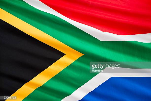 south african flag - south african flag stock photos and pictures