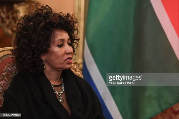 South African Foreign Minister Lindiwe Sisulu meets with her Russian counterpart in Moscow on November 21 2018