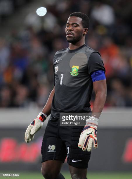 South African goalkeeper Senzo Meyiwa during the Orange AFCON Morocco 2015 Final Round Qualifier match between South Africa and Nigeria at Cape Town...