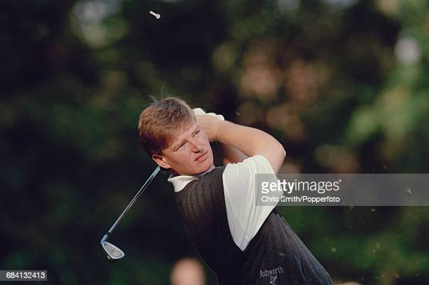South African golfer Ernie Els pictured in action during competition to win the 1994 Toyota World Match Play Championship at Wentworth Golf Club near...