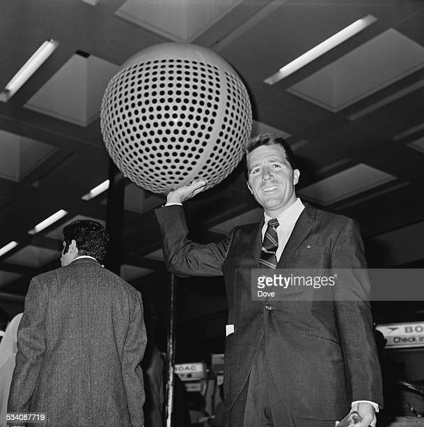 South African golfer Gary Player arriving at London Airport 8th May 1972