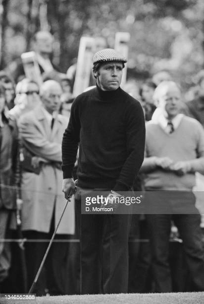 South African golfer Gary Player during a Piccadilly World Match Play Championship at the Wentworth Club in Surrey, UK, 12th October 1974.