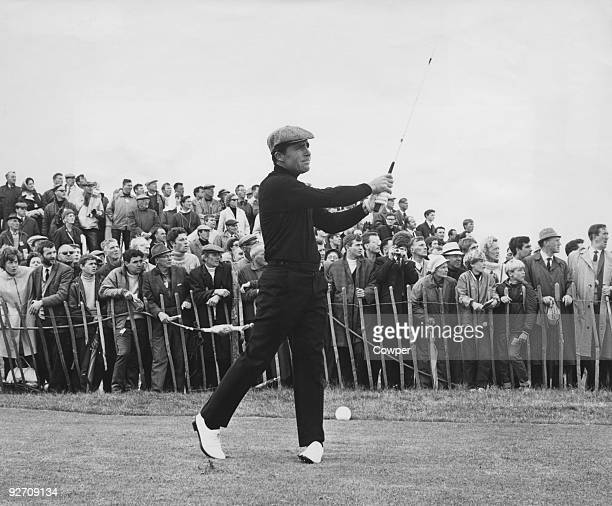 South African golfer Gary Player on the 18th and final hole during the Open Golf Championship at Carnoustie Scotland 14th July 1968 Player won the...