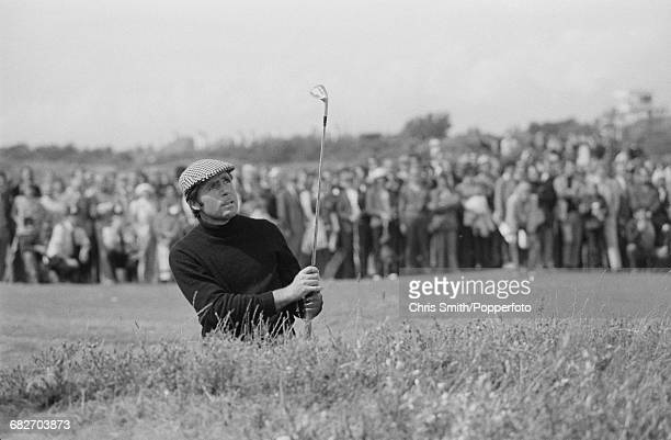 South African golfer Gary Player pictured in action to win the 1974 Open Championship at Royal Lytham St Annes Golf Club in Lancashire England in...