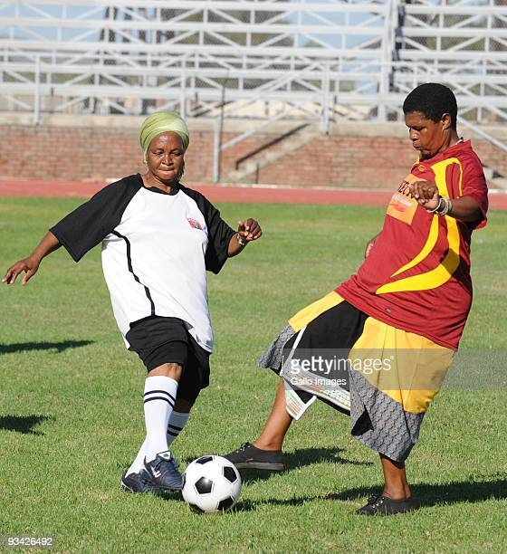 South African grandmothers play football in the Nkowankowa township on November 24 2009 in Tzaneen South Africa The grandmothers are part of a team...