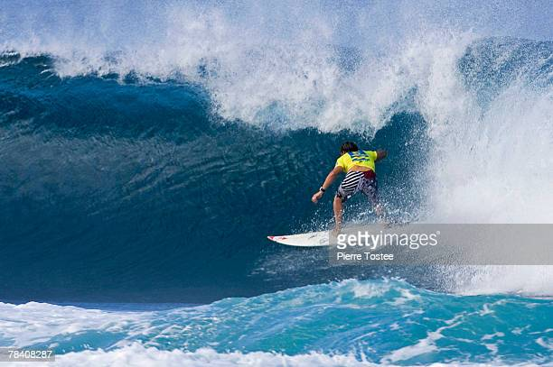 South African Greg Emslie competes during Foster's ASP World Tour and Vans Triple Crown of Surfing in the Billabong Pipeline Masters December 11 2007...