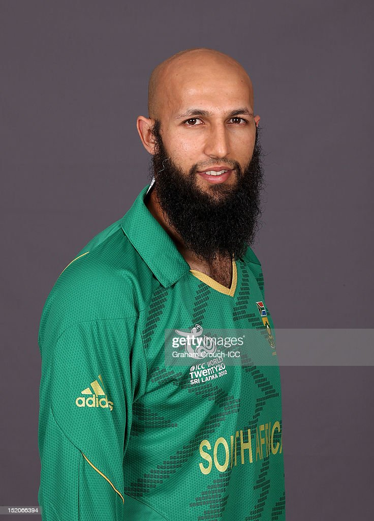 South African Hashim Amla poses at a portrait session ahead of the ICC T20 World Cup on September 16, 2012 in Colombo, Sri Lanka.