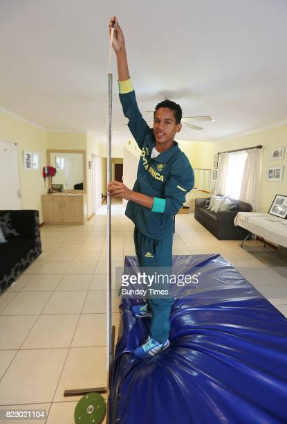 South African high jumper Breyton Poole 17 during an interview at his home on July 20 2017 in Cape Town South Africa The Grade 11 pupil at Paul Roos...
