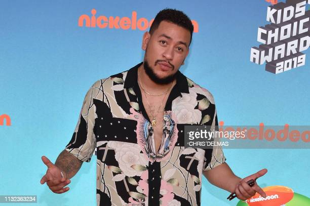 South African hip hop artist AKA arrives for the 32nd Annual Nickelodeon Kids' Choice Awards at the USC Galen Center on March 23 2019 in Los Angeles