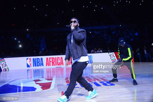 South African hip hop artist Cassper Nyovest during the NBA Africa Game 2018 at Sun Arena, Time Square on August 04, 2018 in Pretoria, South Africa....