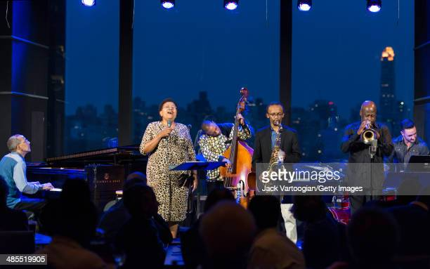 South African Jazz band Uhadi perform onstage at Dizzy's Club CocaCola at Jazz at Lincoln Center New York New York April 3 2014 Pictured are vocalist...