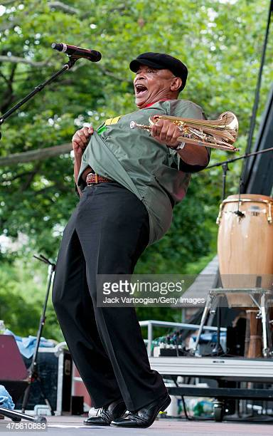 South African Jazz musician Hugh Masekela performs onstage at Central Park SummerStage New York New York June 26 2011