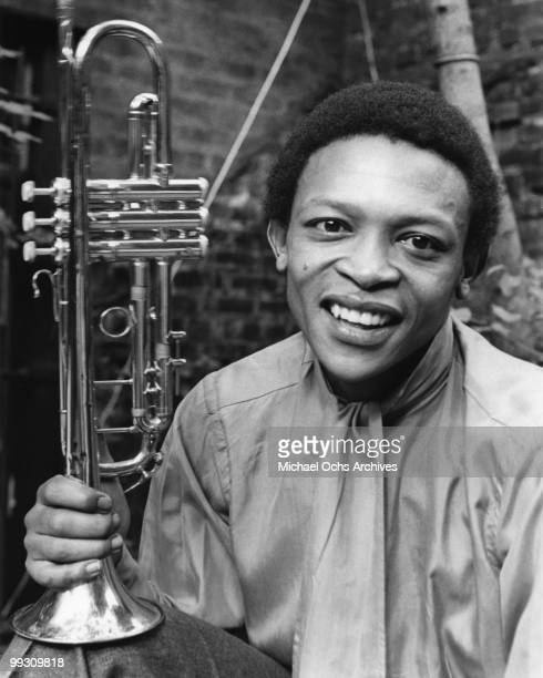 South African jazz trumpeter Hugh Masekela poses for a portrait on August 20 1968 in New York City New York