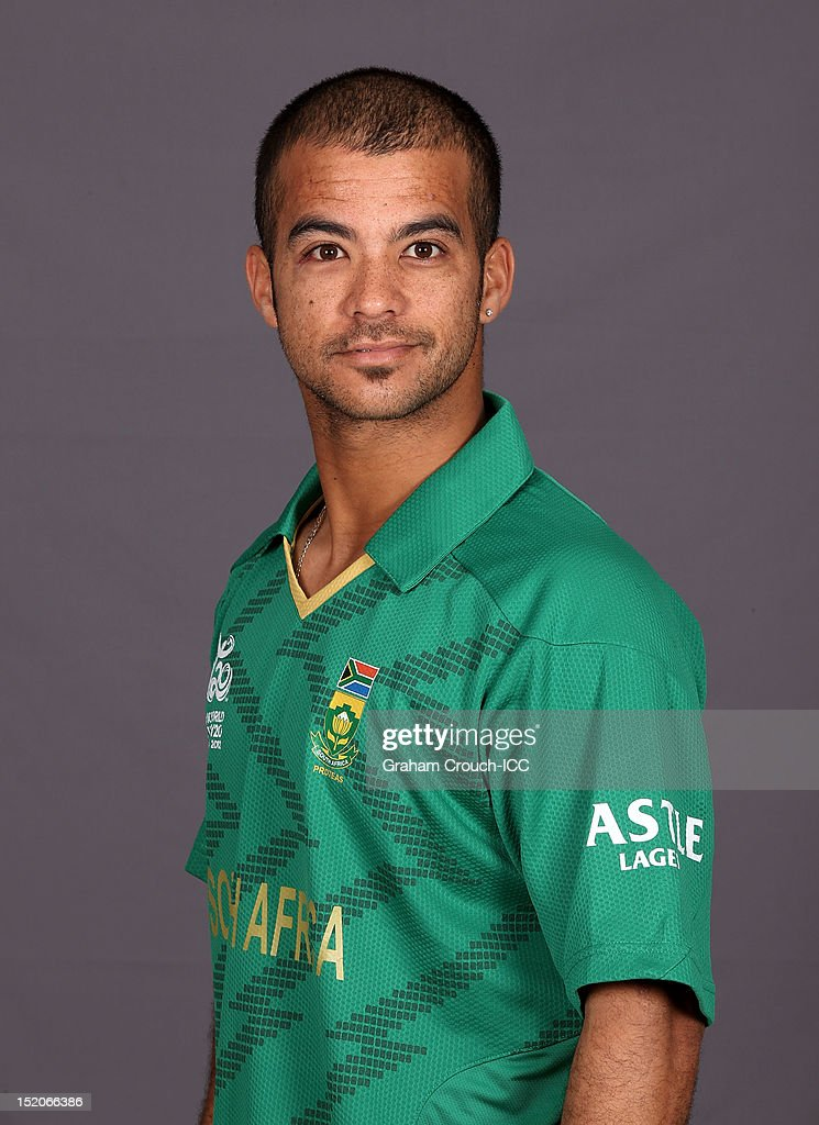 South African Jean-Paul Duminy poses at a portrait session ahead of the ICC T20 World Cup on September 16, 2012 in Colombo, Sri Lanka.