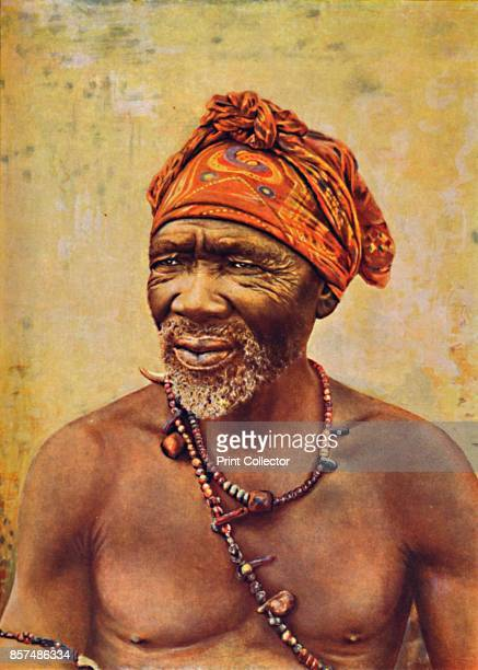 A South African medicine man 1912 From The Living Races of Mankind Vol II [Hutchinson Co London 1912] Artist GW Wilson