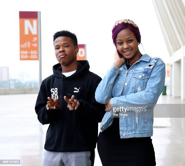 South African musicians Babes Wodumo and Nasty C pose for a portrait during their sendoff breakfast organized by the eThekwini Municipality at the...