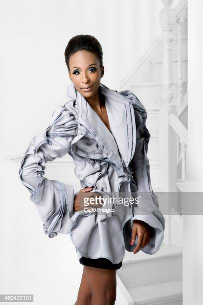 South African performance artist/singer/songwriter Lindiwe Suttle during a photo shoot for Destiny magazine during June 2011 in South Africa