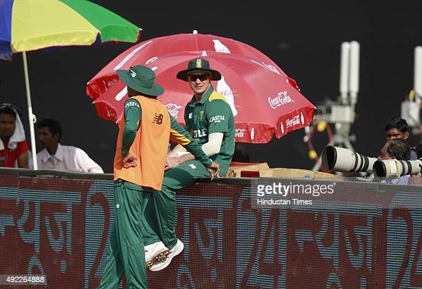 South African player Dale Steyn during the first One Day International match between India vs South Africa at Green Park Stadium, on October 11, 2015...