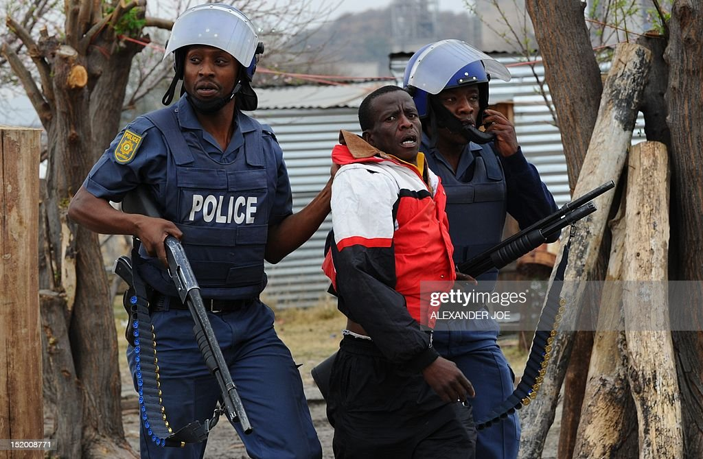SAFRICA-MINING-LABOUR-STRIKE-UNREST : Nyhetsfoto