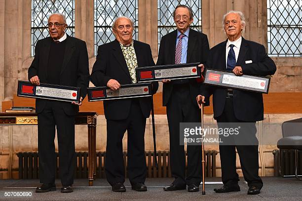 South African politician Ahmed Kathrada and South Afrian social campaigner Denis Goldberg both who were active in the antiapartheid struggle and...