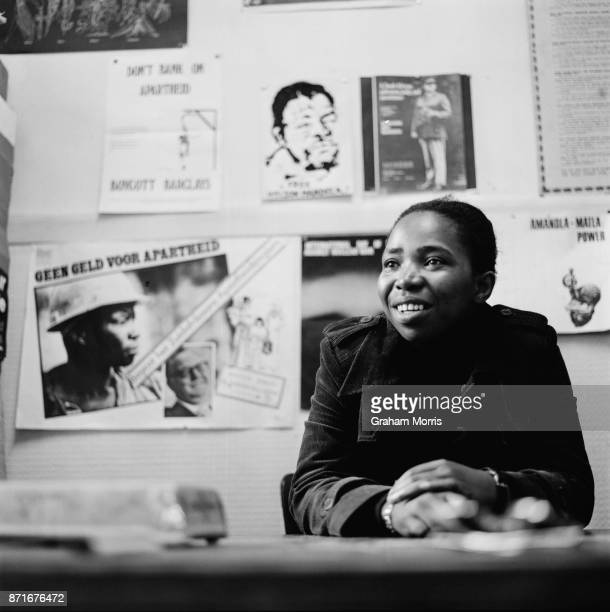 South African politician and anti-apartheid activist Nkosazana Dlamini-Zuma, during her exile in the UK, 20th June 1977.