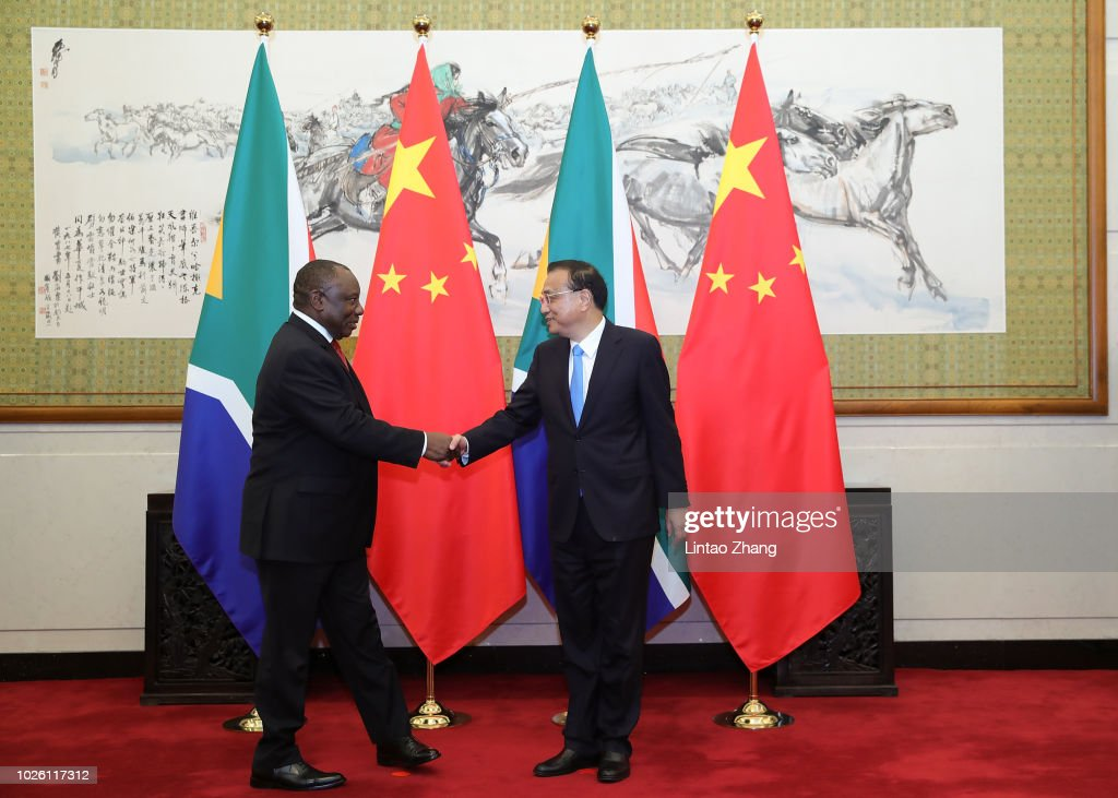 South African President Meets Chinese Premier Li Keqiang : News Photo