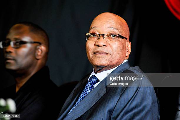 South African President Jacob Zuma and COSATU General Secretary Zwelinzima Vavi attend the opening of the new headquarters of the Congress of South...