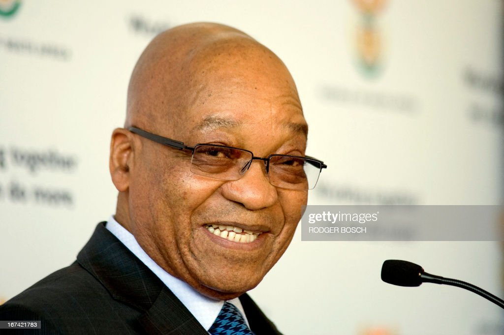South African President Jacob Zuma announces the tourism figures for 2012 on April 25, 2013, in Cape Town. A record 9.2 million tourists visited South Africa last year, revealing a surge in visitors from China. China is now South Africa's fourth largest source of tourists, recording a 55.9 percent jump in the number of visitors.The number of tourists travelling to South Africa grew by more than 10 percent, despite the global economic crisis. Britons were the most frequent visitors, followed by the Americans and Germans. AFP / RODGER