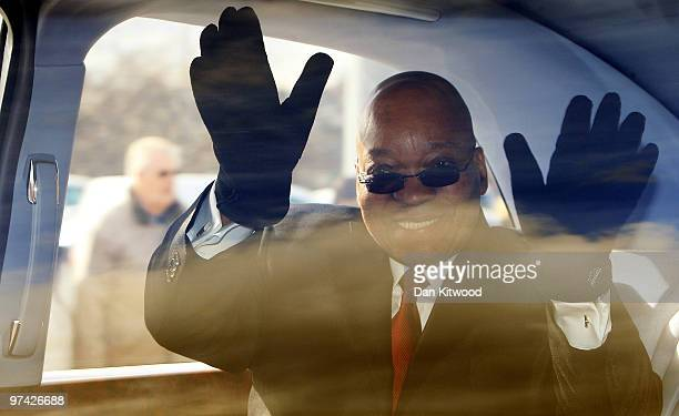 South African President Jacob Zuma visits a Sainsburys Supermarket in North Greenwich on March 4, 2010 in London, England. President Zuma and his...