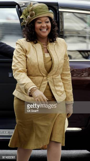 South African President Jacob Zuma's wife Thobeka Madiba Zuma arrives at Westminster Abbey on March 3 2010 in London England President Zuma and his...