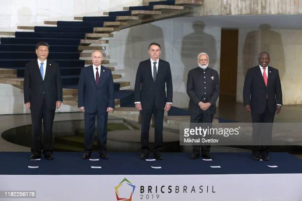 South African President Matamela Cyril Ramaphosa , Indian Prime Minister Narendra Modi , Chinese President Xi Jinping , Russian President Vladimir...