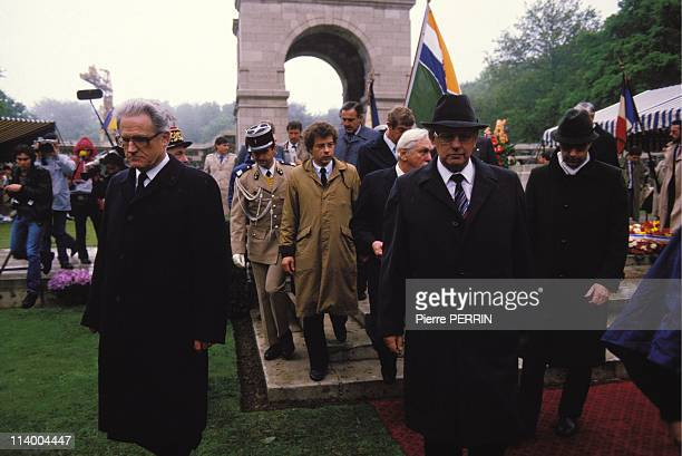 South African Prime Minister PW Botha In Longueval France On June 07 1984Jean Laurain Minister for war veteran PW Botha