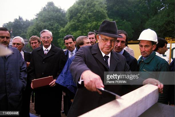 South African Prime Minister PW Botha In Longueval France On June 07 1984