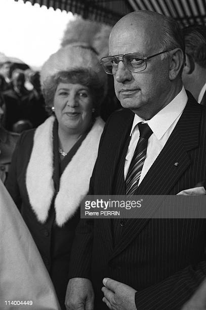 South African Prime Minister PW Botha In Longueval France On June 07 1984PW Botha with his wife